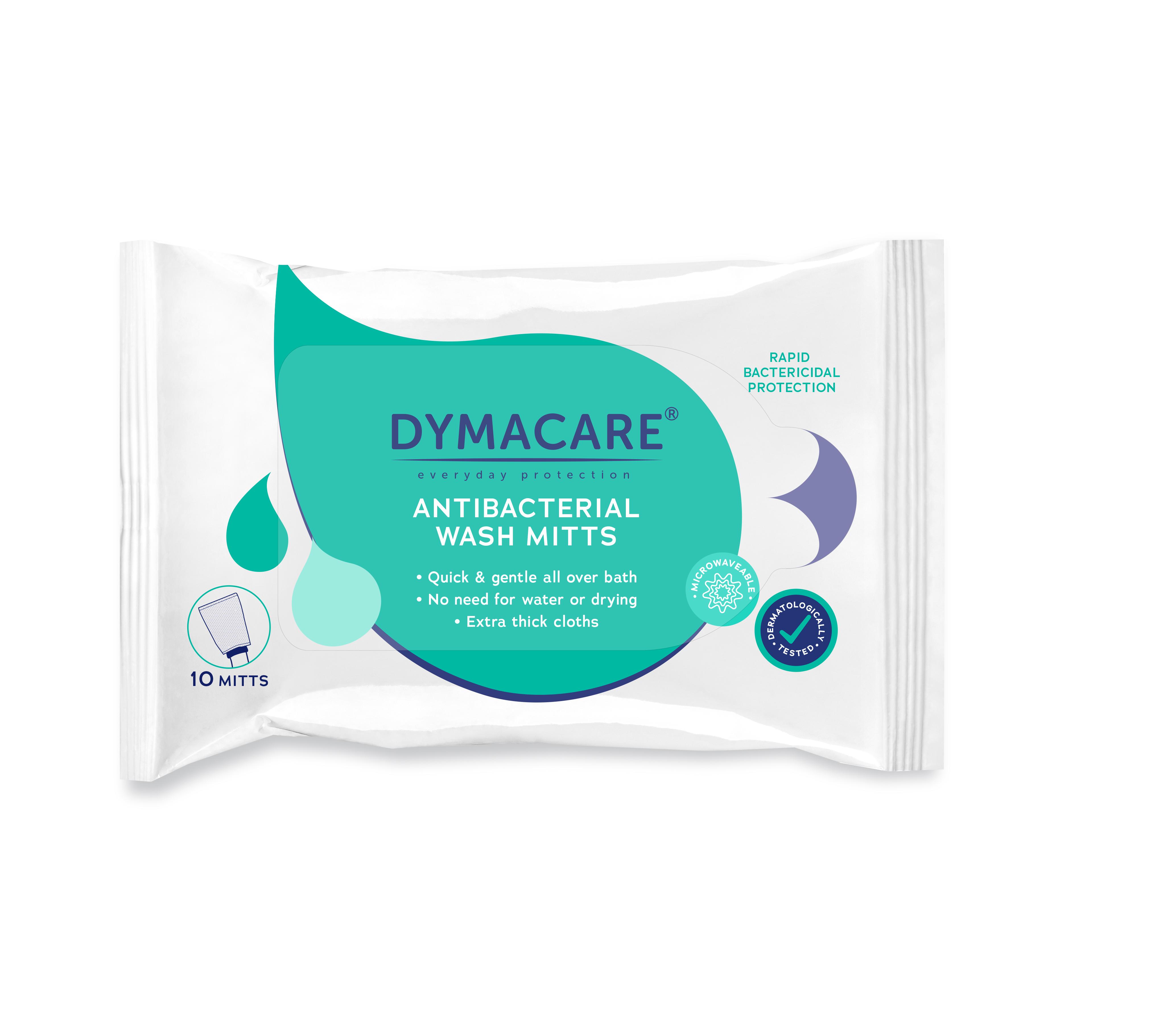 Klinik Qualit/ät DYMACARE/® Feuchte Waschhandschuhe 5 Packungen Mit pflegender Aloe Vera Gro/ße und weiche Waschhandschuhe f/ür die Ganzk/örperwaschung ohne Parf/üm